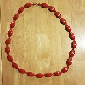 Jewelry - Chunky red bead necklace
